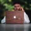 Houten MacBook skin Sticker - Air - Pro - 13inch - 16 inch - 15 inch - Kudu