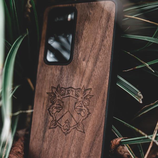Graveren houten telefoonhoesjes - Logo - Naam - Kudu