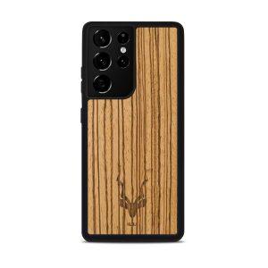 Graveren eigen naam houten telefoonhoesje