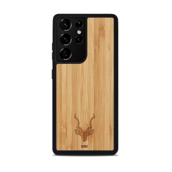 Samsung S21 Ultra houten telefoonhoesje - Kudu