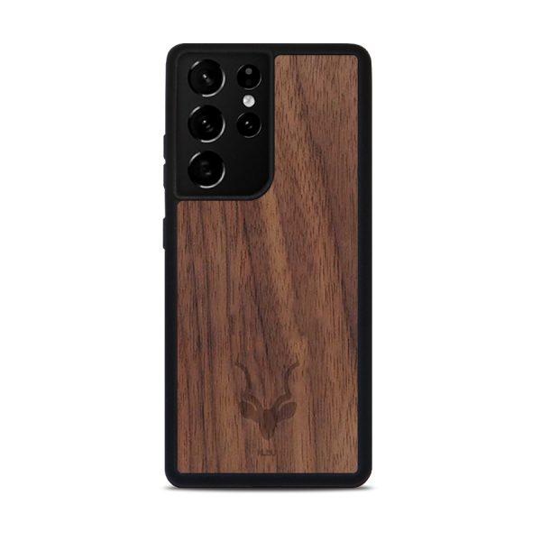 Houten Samsung S21 Ultra hoesje - Kudu